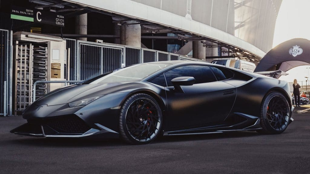 Black Satin Lamborghini Wrap